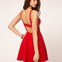 ASOS | ASOS Skater Dress In Bengaline at ASOS