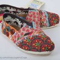 Toms Shoes Fabric Covered STYLE 1 by JageInACage on Etsy