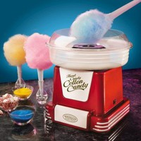 Retro Series Hard and Sugar-Free Cotton Candy Maker in Red: Kitchen & Dining