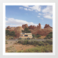 Rock Camper Art Print by Kevin Russ