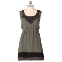 in the midst of it all olive green dress