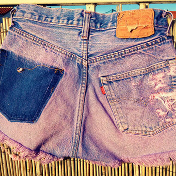 Vintage Levi's Denim Pink High Waisted Shorts / by UnraveledClothing