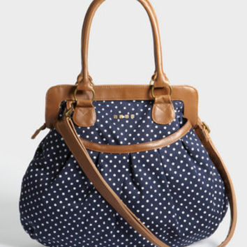 Nautical Navy Polka Dot Purse | Shop Volcom Bags Now