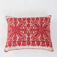 Cottage Embroidery Pillow