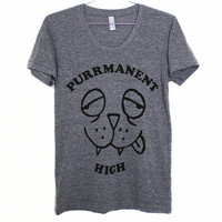 Purrmanent High TShirt Select Size by BurgerAndFriends on Etsy