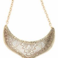 textured tribal necklace $13.80 in GOLD - Tribal | GoJane.com