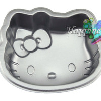 "6"" Hello Kitty Shape Kawaii Cute DIY Mini Home Metallic Party Cake Maker Mold"