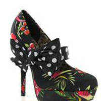 IRON FIST - LADIES SOCIETY SUICIDE PLATFORM BLACK