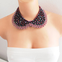 Peter Pan Collar - Sparkling Crystal Peter Pan Collar Necklace