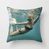 And in that Moment you are a Mermaid Throw Pillow by RichCaspian | Society6