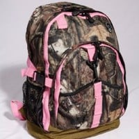 Mossy Oak Pink Camouflage Backpack Hunting Sports School Bag Hiking