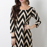 Angled Waves Dress