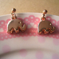 Elephant Earrings by Bitsofbling on Etsy