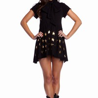 MIDNIGHT STAR - OLD FASHIONED DRESS at Wildfox Couture in  DNVY, - CLEAN BLACK