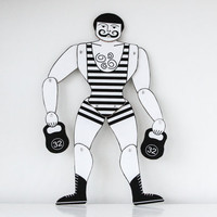 Marionette -Strong man- paper doll to look at and play with