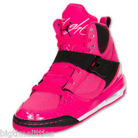 WOMEN'S OR GIRL'S NIKE AIR JORDAN FLIGHT 45 HI PREM PINK SHOES 7wmn = 5.5Ygirls