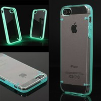 Luminous Style Glowing Hard Bumper Skin Back Case Cover For iPhone 5 5G 5th Blue