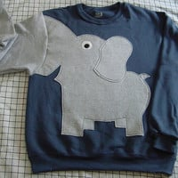 Fun Elephant Trunk sleeve sweatshirt mens M by CreativeCallipipper