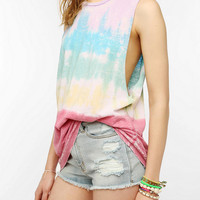Colorfast Rainbow Cutoff Muscle Tee
