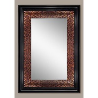 Illuminada - Amber Beaded Rectangle Mirror (8894) - Mirrors