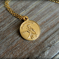The Little Prince / Le Petit Prince Coin Necklace in Gold