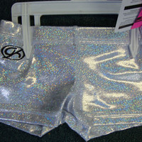 GK Elite Gymnastics Shorts Silver CS CM CXS CL X-Small Medium Large 2 4 6 8