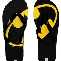 Batman Logo DC Comics Superhero Flip Flops Sandals: Shoes
