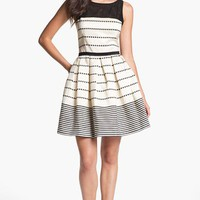Taylor Dresses Stripe Fit &amp; Flare Dress | Nordstrom