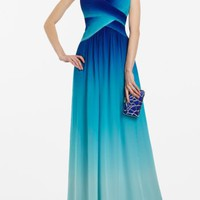 BCBGMAXAZRIA - SHOP BY CATEGORY: DRESSES: VIEW ALL: TIMOA OMBRE EVENING GOWN