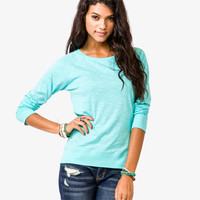Slub Knit Raglan Top