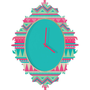 DENY Designs Home Accessories | Iveta Abolina Pink Navajo Baroque Clock
