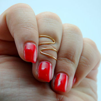 Two Triangle Knuckle Ring/ Two Triangle Midi Ring/ Zig Zag Midi Ring/ Zig Zag Knuckle Ring