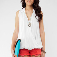 That's a Wrap Sleeveless Top :: tobi