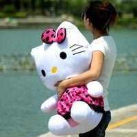 75CM Hello KT kitty Rosiness bowknot plush big doll new