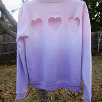 Ombre Jumper w/ love heart cutouts