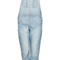 MOTO Bleach Long Leg Dungarees - Denim  - Clothing