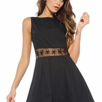Sleeveless Crochet Skater Dress