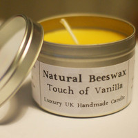 Natural Beeswax Candle - Touch Of Vanilla Scent on Luulla