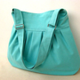 Pretty Bag in AQUA Blue everyday purse with by bayanhippo on Etsy
