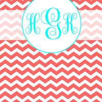 Personalized Printable Chevron Monogram Binder Covers