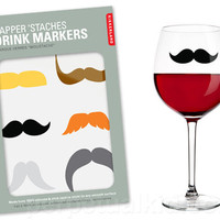 DAPPER 'STACHE DRINK MARKERS