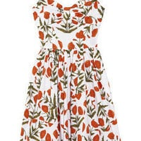 Oscar de la Renta | Printed cotton-blend dress | NET-A-PORTER.COM