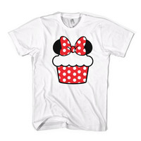 Minnie Cupcake TShirt  American Apparel Unisex Sizes by Cakeworthy