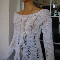 RESORT SEASON Handmade knitted longsleeved ladder by GoldenYarn