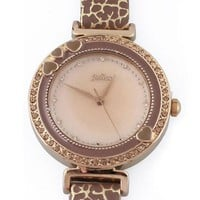 Fashion Shell Print CZ Diamond Watch