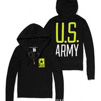 Army Perfect Full Zip Hoodie - PINK - Victoria's Secret