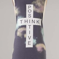 Amazing Think Positive Casual Activewear T-shirt Top Sleeveless Dancewear Shirt