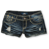 YMI Patty Dark Wash Denim Shorts