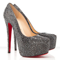 Christian Louboutin Daffodile 160mm Strass Pumps Hematite