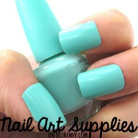 nailartsupplies | Mint Green Matte Nail Polish Mini Teaser Size 8ml | Online Store Powered by Storenvy